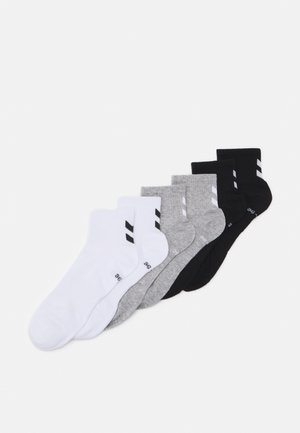 CHEVRON MID CUT 6 PACK UNISEX - Sports socks - white/black/grey melange