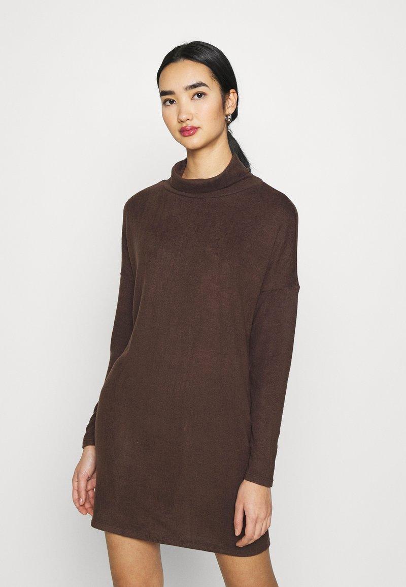 JDY - JDYSARA TONSY NECK DRESS - Jumper dress - bracken