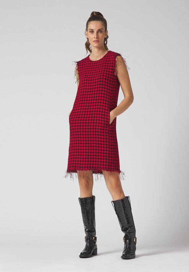 VESTITO - Day dress - rosso nero