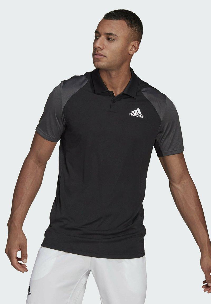 adidas Performance - CLUB POLO TENNIS AEROREADY PRIMEGREEN REGULAR SHIRT - Piké - black