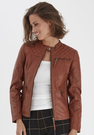 Leather jacket - ginger bread