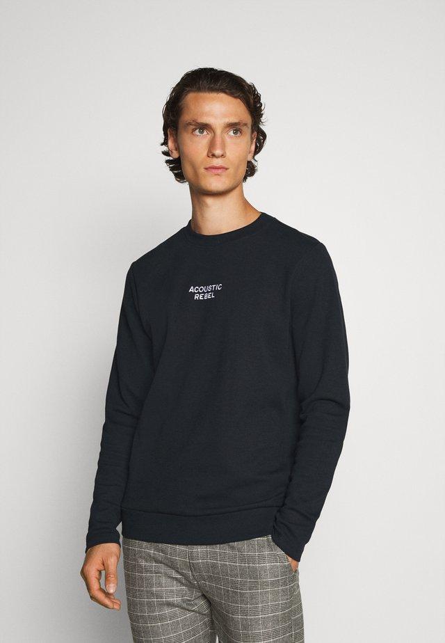 JPRBLADEAN CREW NECK - Sweatshirt - dark navy