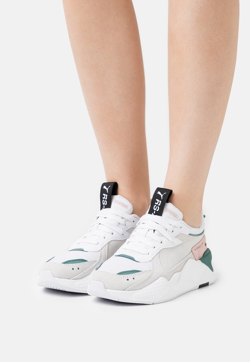 Puma - RS-X REINVENT - Trainers - white/blue spruce
