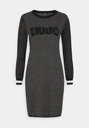 ABITO MAGLIA - Shift dress - nero lux