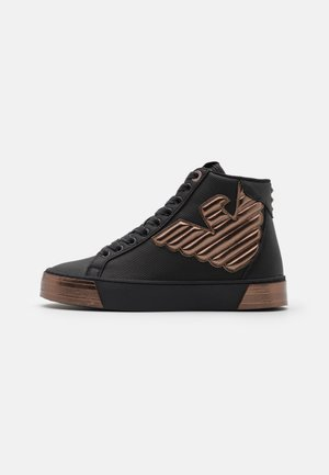 UNISEX - Sneakersy wysokie - black/bronze