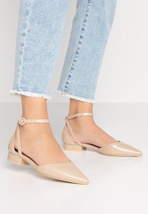 ELEANOR - Ankle strap ballet pumps - nude