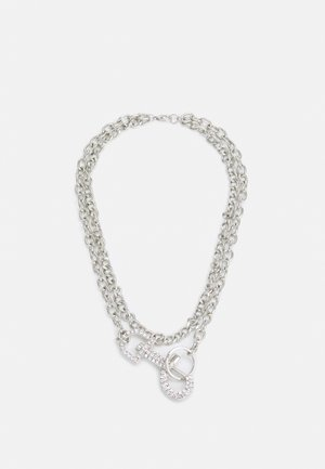 RHINESTONE CLASP NECKLACE - Necklace - silver-coloured