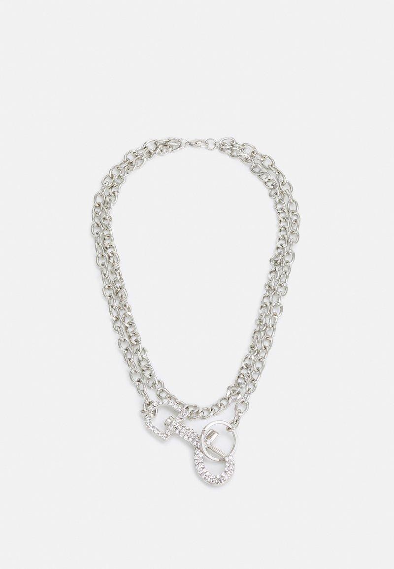 Uncommon Souls - RHINESTONE CLASP NECKLACE - Necklace - silver-coloured