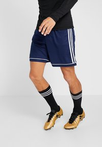 adidas Performance - SQUADRA CLIMALITE FOOTBALL 1/4 SHORTS - Sportovní kraťasy - dark blue/white - 0