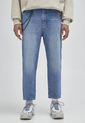 Jeans Straight Leg - mottled dark blue