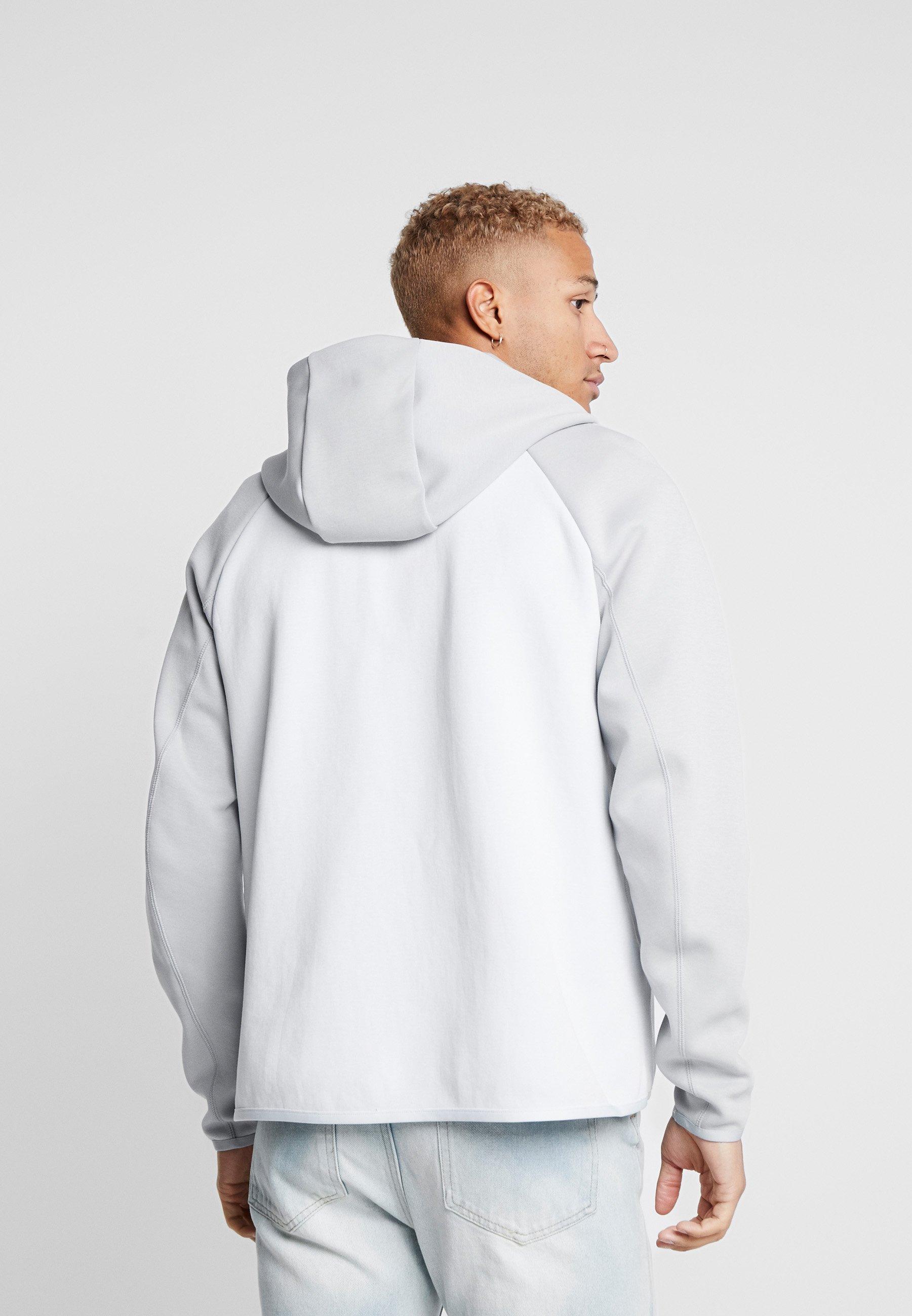 Nike Sportswear TECH FULLZIP HOODIE - veste en sweat zippée - pure platinum/smoke grey