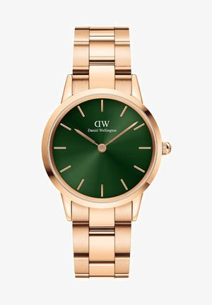 ICONIC LINK EMERALD - Hodinky - rose gold