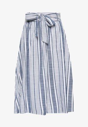 ONLLAVANA STRIPE SKIRT TALL - A-line skirt - white/dark blue