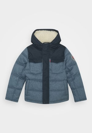 QUILTED TRUCKER JACKET - Giacca invernale - dress blues
