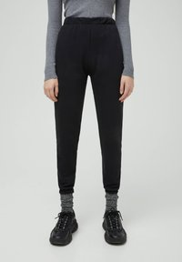 PULL&BEAR - Tracksuit bottoms - black - 0