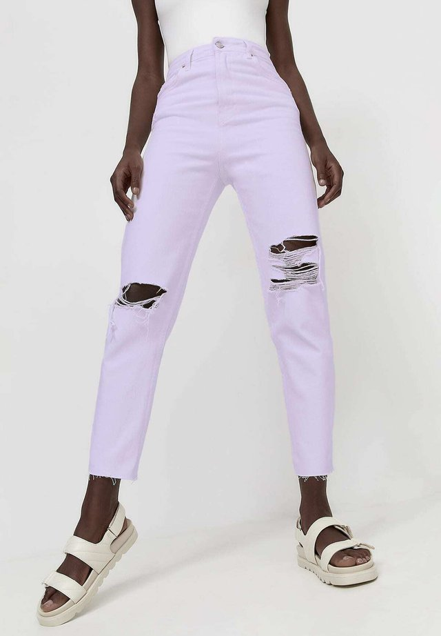 MOM FIT - Jeans a sigaretta - mauve