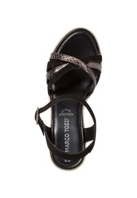 Marco Tozzi - Wedge sandals - black comb - 1