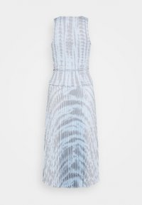 Proenza Schouler - PRINTED SMOCKED DRESS WITH PLEATED SKIRT - Denní šaty - light blue/grey - 1