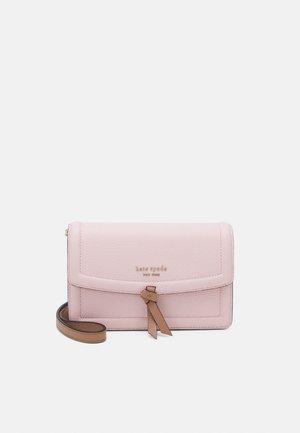 FLAP CROSSBODY - Across body bag - chalk/pink multi