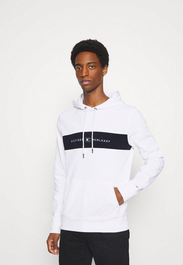 Tommy Hilfiger NEW LOGO HOODY - Bluza - white/biały Odzież Męska QLKX