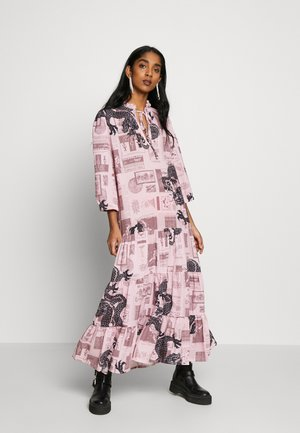 FANTASY SMOCK DRESS - Maxi dress - pink