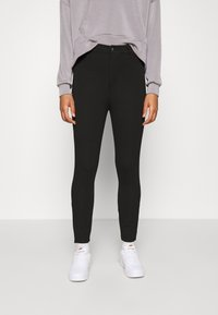 Even&Odd - High Waisted Punto Trousers with pockets - Trousers - black - 0