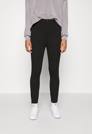 High Waisted Punto Trousers with pockets - Stoffhose - black
