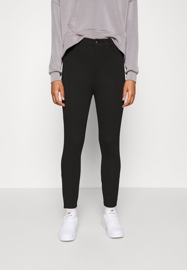 High Waisted Punto Trousers with pockets - Bukse - black