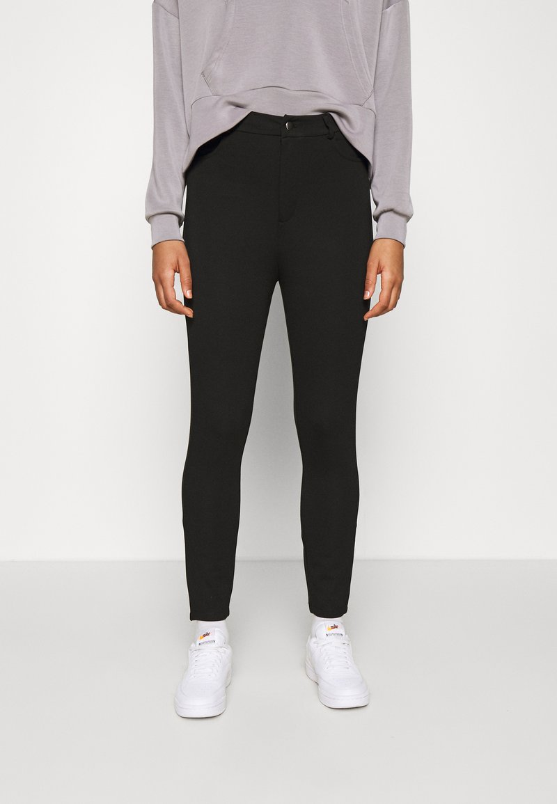 Even&Odd - High Waisted Punto Trousers with pockets - Trousers - black