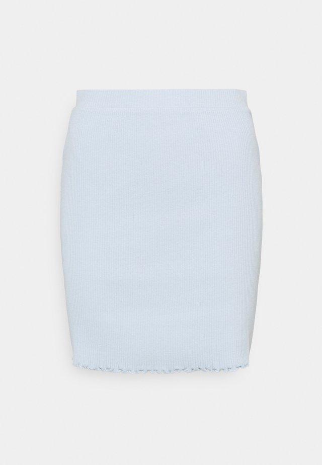 VIBALU SKIRT - Mini skirts  - cashmere blue