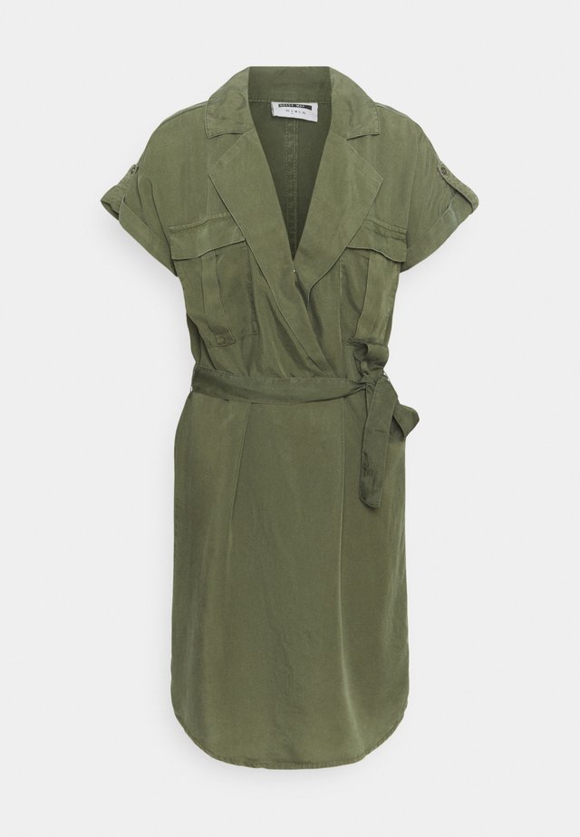 NMVERA ENDI DRESS - Robe chemise - khaki