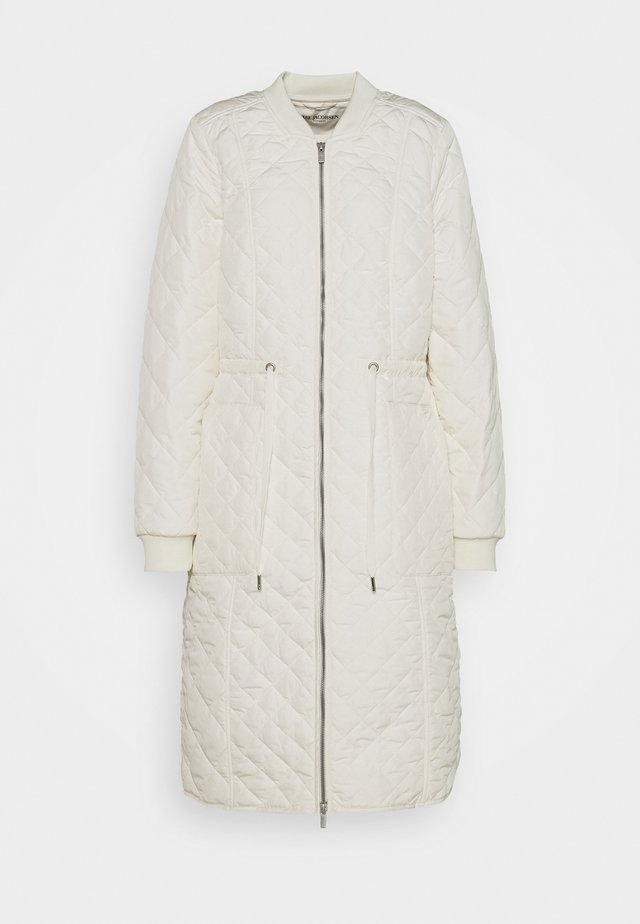 PADDED QUILT COAT - Klassisk kappa / rock - milk creme