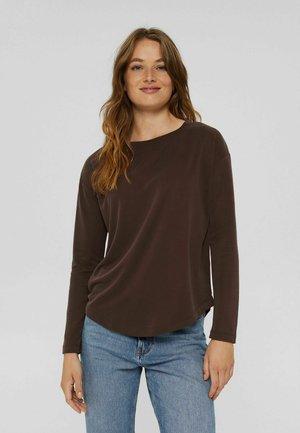 Long sleeved top - rust brown