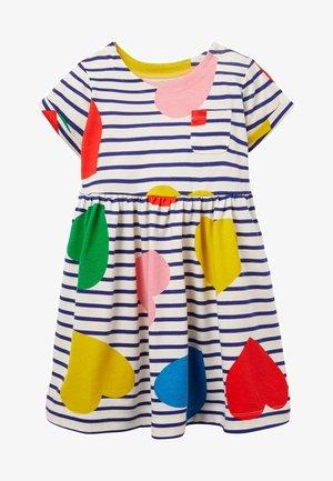 WITZIGES - Jersey dress - bunt, herzen