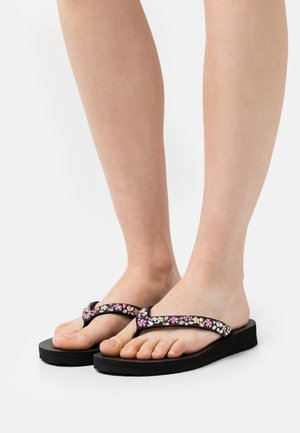 MEDITATION - T-bar sandals - black/multicolor