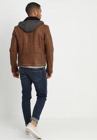 Oakwood - DRINK - Leather jacket - tan - 2