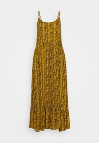 NMBEAGLE CALF DRESS  - Maxi dress - yellow