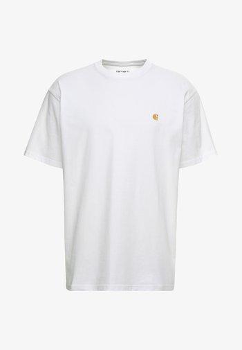 CHASE  - T-shirts basic - white/gold