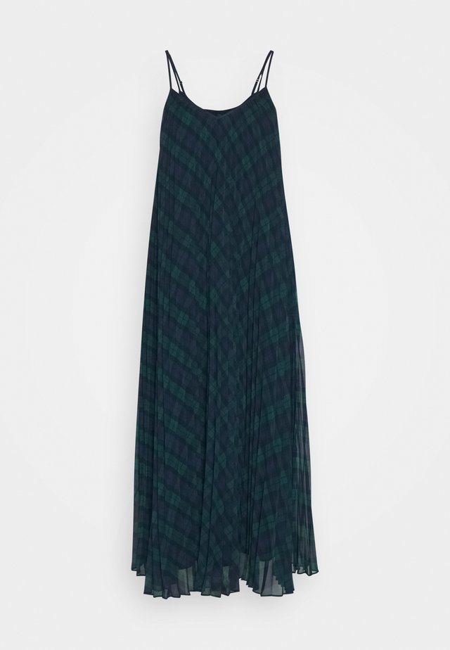 ICON TARTAN SLIP DRESS - Day dress - black watch/green