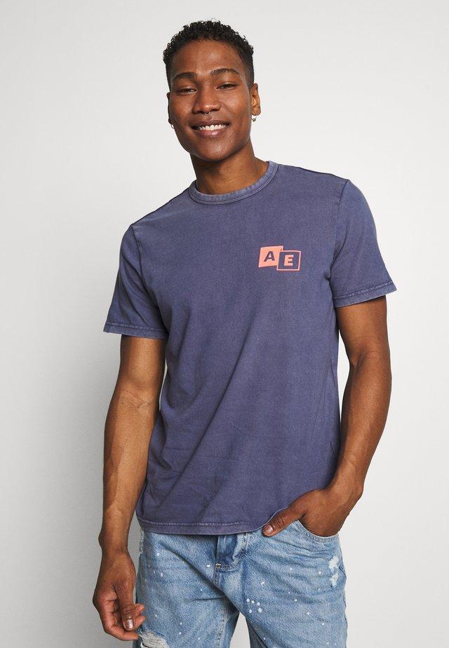 BOUND NECK TEE - T-shirt con stampa - navy