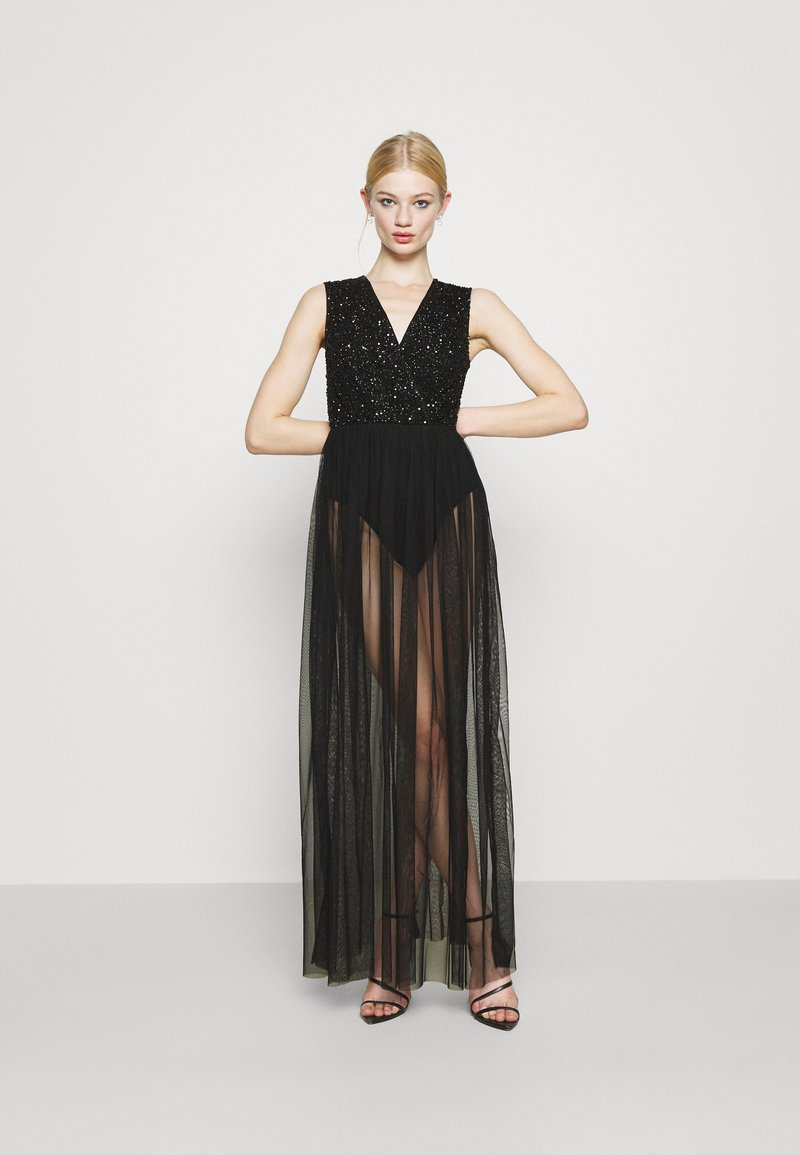 Lace & Beads - LILLIAN MAXI - Robe de cocktail - black