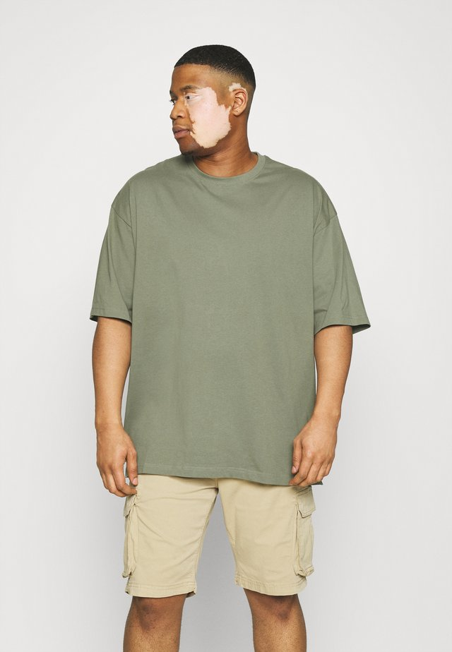 OVERSIZED TEE BIGUNI - T-shirt basique - dusty army