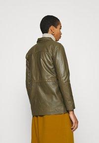 Soft Rebels - SRMATHILDA JACKET - Leather jacket - dark olive - 2