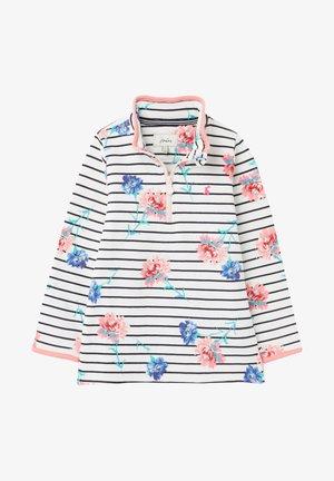 Sweatshirt - weiße streifen floral