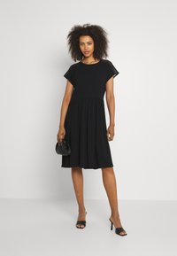 Vero Moda - VMNANCY KNEE DRESS - Day dress - black - 1