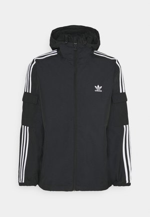 THREE STRIPES UNISEX - Summer jacket - black