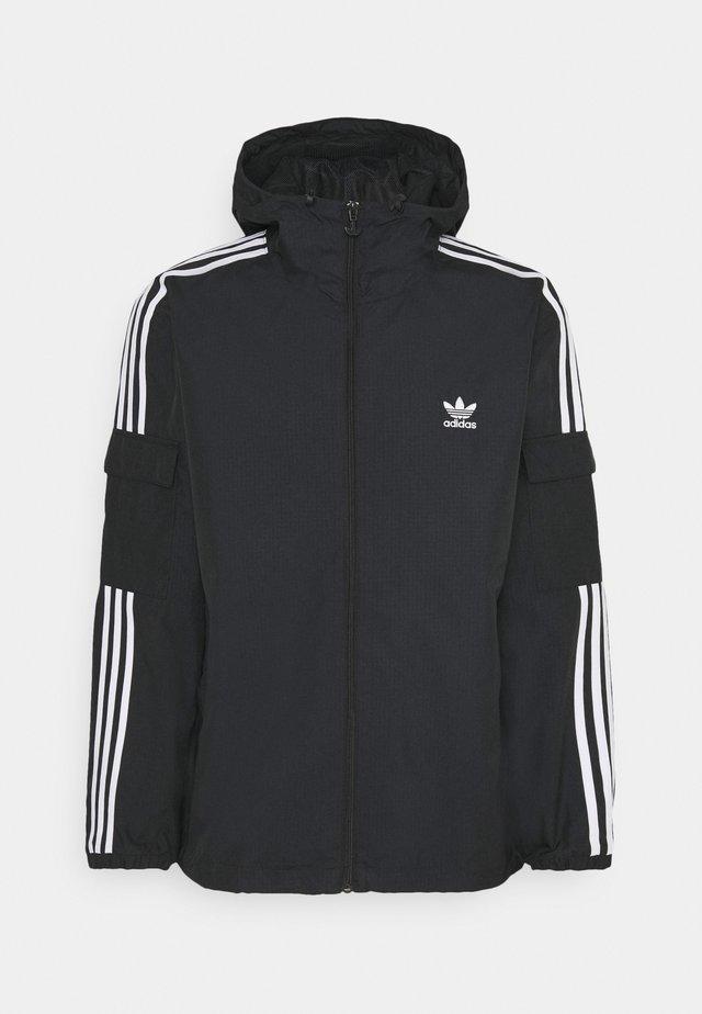 THREE STRIPES UNISEX - Summer jacket - black