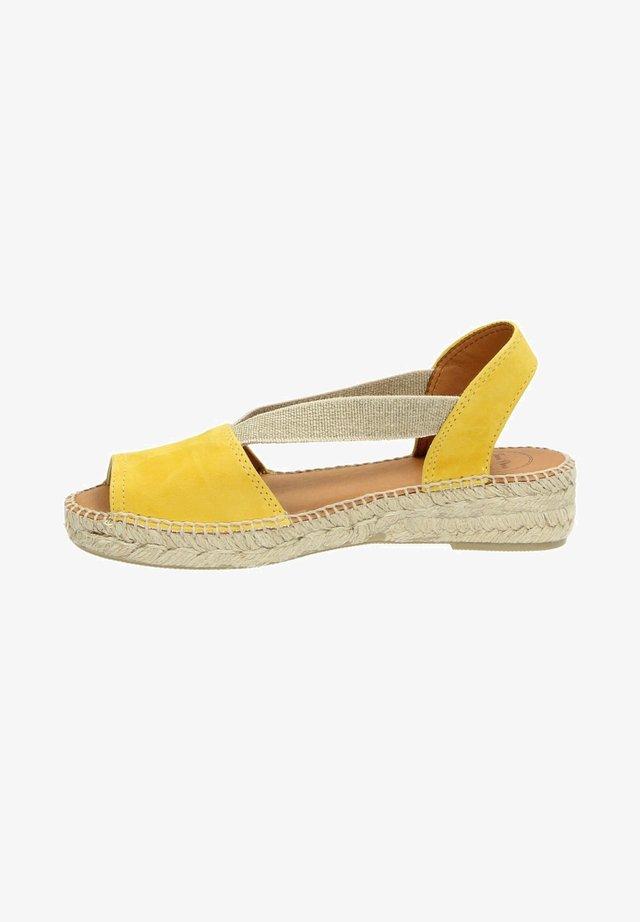 Espadrilles - geel