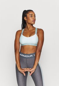 Under Armour - WORDMARK STRAPPY SPORTLETTE - Sports bra - seaglass blue - 0