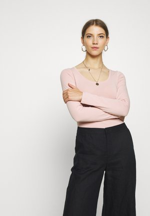 SCOOP NECK BODY - Top s dlouhým rukávem - pale pink